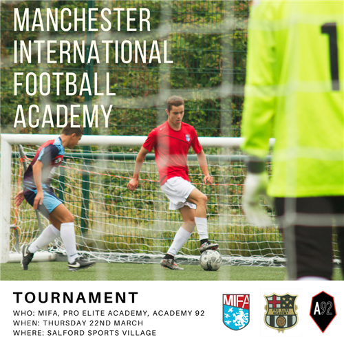 MIFA to host tournament with Academy 92