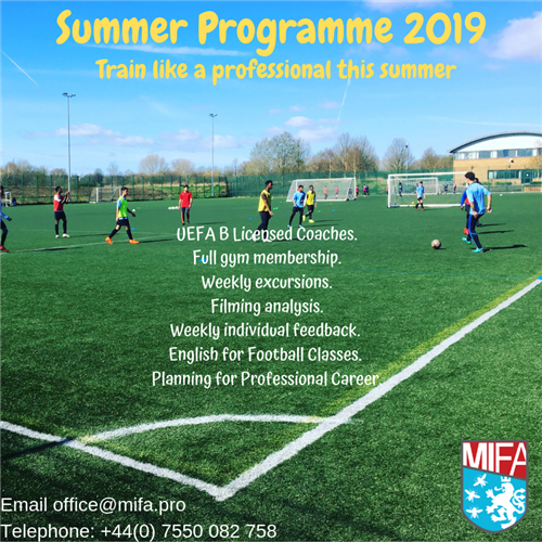 MIFA Summer Football Training Camp